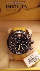 【送料無料】invicta mens pro diver quartz stainless steel and silicone casual watch,