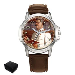 【送料無料】joseph stalin soviet union russia gents mens wrist watch gift box engraving
