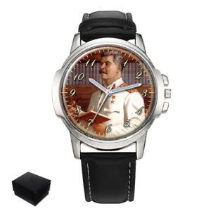 joseph stalin soviet union russia  mens wrist watch gift engraving