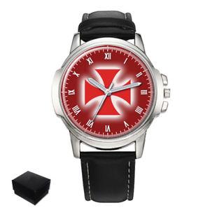 【送料無料】templar cross knights templar masonic gents mens wrist watch gift engraving