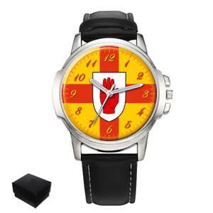 【送料無料】the red hand of ulster flag gents mens wrist watch gift engraving