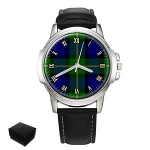【送料無料】gordon scottish clan tartan gents mens wrist watch gift engraving