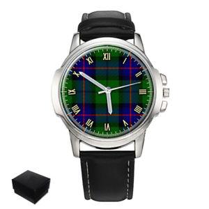 【送料無料】armstrong scottish clan tartan gents mens wrist watch gift engraving