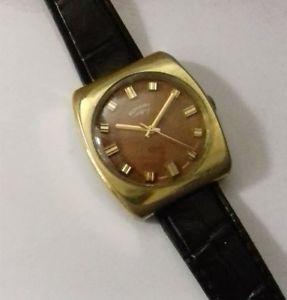 【送料無料】vintage gents rotary watch 17jewels gold plated swiss made not working