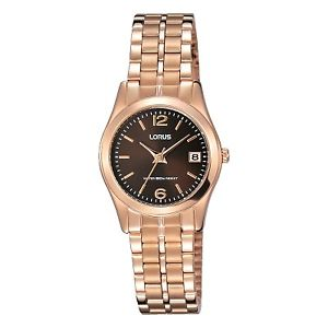 【送料無料】lorus ladies rose gold plated watch lnp  rh734bx9