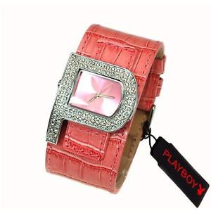 【送料無料】playboy pink strap ladies designer fashion cuff watch pb0189pk