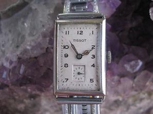 【送料無料】tissot vintage stainless steel deco wrist watch
