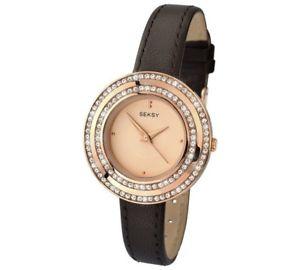 【送料無料】seksy ladies rose gold plated watch  2076snp
