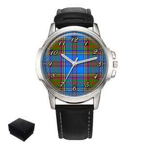 【送料無料】anderson scottish clan tartan gents mens wrist watch gift engraving