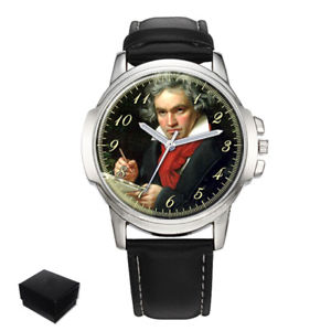 【送料無料】ludwig van beethoven composer gents mens wrist watch gift engraving