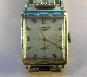 【送料無料】vintage mens 1950s longines art deco 14k gold watch w geneva box [fa19]
