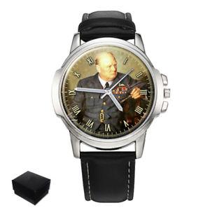 【送料無料】sir winston churchill gents mens wrist watch gift engraving