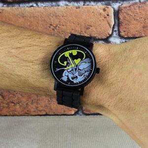 【送料無料】 icial dc comics batman classic comic boys mens wrist watch wristwatch