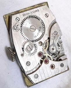 【送料無料】gents vintage 1940s 15j wristwatch movement working