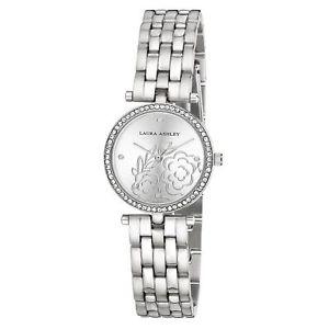 【送料無料】laura ashley womens quartz metal and alloy casual watch boxed