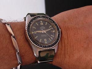 【送料無料】rare kander mens vintage diver watch uhr 39mm self winding