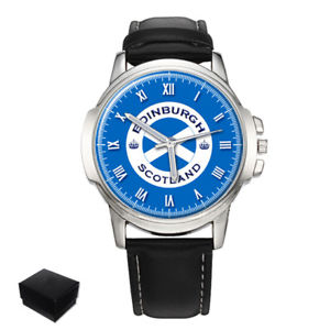 【送料無料】edinburgh city scotland gents mens wrist watch gift engraving