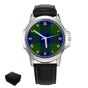 【送料無料】barclay scottish clan tartan gents mens wrist watch gift engraving