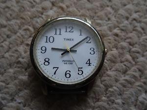 【送料無料】vintage timex indiglo mens wr 30m quartz wrist watch, works, light, battery