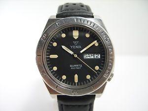 【送料無料】yema 330ft montre vintage de plongee diver watch
