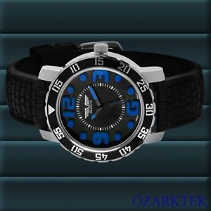 deporte sport goodwood   watch  w flame fused crystal blue