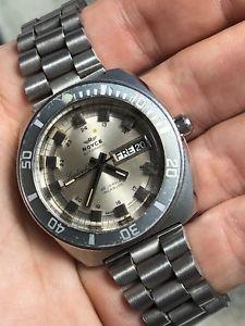 【送料無料】royce leadership 3300 swiss steel automatic vintage mens diver watch 40mm as2066