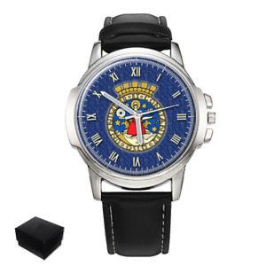 【送料無料】oslo city coat of arms norway gents mens wrist watch gift engraving