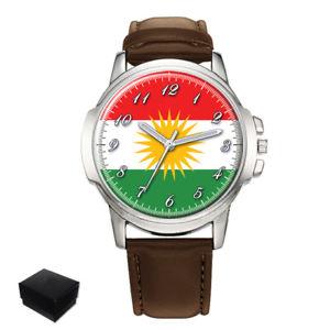 【送料無料】kurdistan kurdish flag gents mens wrist watch gift box engraving