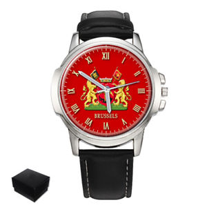 city of brussels coat of arms belgium gents mens wrist watch  gift engraving