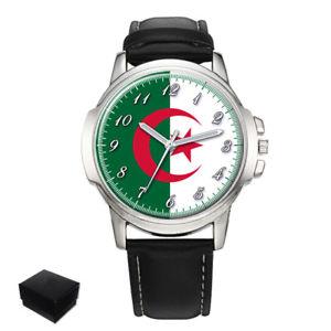 【送料無料】algeria algerian flag eagle gents mens wrist watch gift engraving