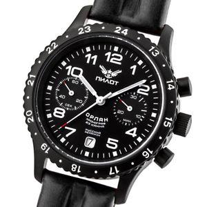 【送料無料】pilot orlan chronograph poljot 3133 fliegeruhr handaufzug russische uhr