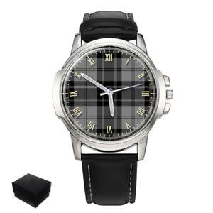 【送料無料】douglas scottish clan tartan gents mens wrist watch gift engraving