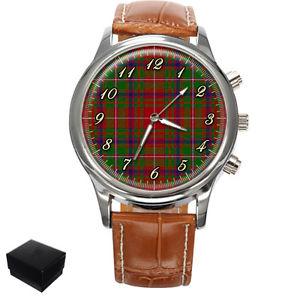 【送料無料】macdougall scottish clan tartan gents mens wrist watch gift box engraving