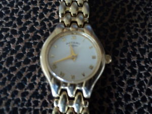 【送料無料】vintage rotary ladies gold tone quartz watch ref 10021 working