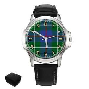 【送料無料】duncan scottish clan tartan gents mens wrist watch  gift engraving
