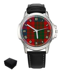 【送料無料】ross scottish clan tartan gents mens wrist watch gift engraving
