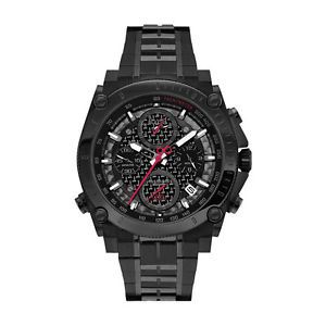 【送料無料】bulova precisionist ultra highfrequency herren schwarz chronograph uhr 98b257