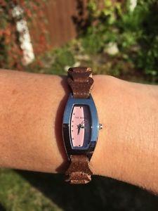 【送料無料】 womens ted baker watch with leather strap