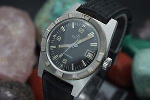 【送料無料】vintage baylor automatic stainless steel 600ft mens 36mm skin diver watch