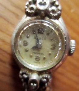 【送料無料】vintage 40s gruen precision swiss womens wristwatch 10k rgp workiing runs slow