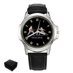 【送料無料】fencing foil, pe, sabre sport mens wrist watch gift