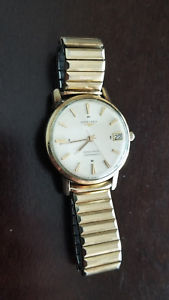vintage mens longines grand prize automatic with date original crown gold filled