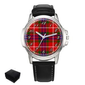 【送料無料】fraser of lovat scottish clan tartan gents wrist watch gift engraving xmas