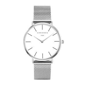【送料無料】 chronos women luxury simple watch ladies fashion casual dress quartz stainle