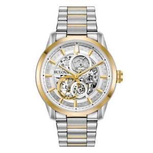 【送料無料】bulova 98a214 mens classic automatic two tone steel watch
