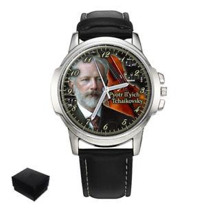 【送料無料】peter ilyich tchaikovsky russian composer mens wrist watch engraving