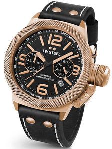 【送料無料】tw steel canteen cs73 herrenuhr ip rose, leder schwarz chronograph chrono