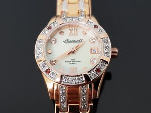 ingersoll gems ladies rose gold bracelet watch