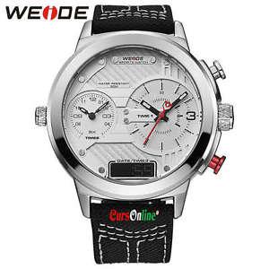 orologio da polso uomo weide wh6405 triplo orario analogico amp; digitale luce led