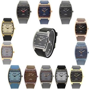 【送料無料】omax square mens designer silicon watch